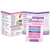 Know Your Numbers Women's Health Tests Recorder Pocket Pal - Personalization Available