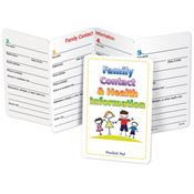 Family Contact & Health Information Pocket Pal - Personalization Available