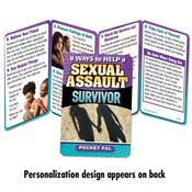 8 Ways To Help A Sexual Assault Survivor Pocket Pal - Personalization Available