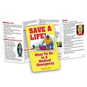 Save A Life! What To Do In A Medical Emergency Pocket Pal - Personalization Available