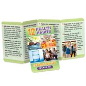 12 Health Habits To Better Your Life Pocket Pal - Personalization Available