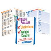 Blood Pressure/ Cholesterol/ Weight Control Tips & Recorder Pocket Pal - Personalization Available