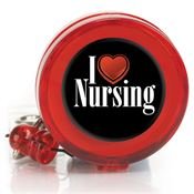 I Love Nursing Retractable Badge Holder