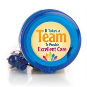 It Takes A Team To Provide Excellent Care Retractable Badge Holder