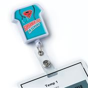 Superheroes In Scrubs T-Shirt Shaped Retractable Badge Holder