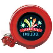 Committed To Excellence 4-Color Retractable Badge Holder