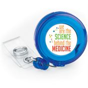 Medical Laboratory Professionals: We Are The Science Behind The Medicine Retractable Badge Holder