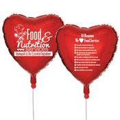 Food & Nutrition Services: Teamwork Is Our Essential Ingredient Heart-Shaped Celebration Balloons