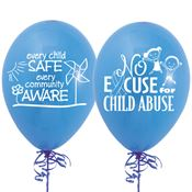 No Excuse For Child Abuse 2-Sided Balloons