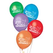 We, Love, We Care, We Make A Difference Balloons