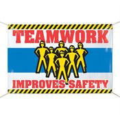 Teamwork Improves Safety Banner