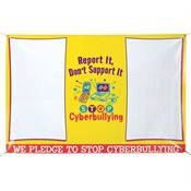 Report It, Don't Support It - Stop Cyberbullying  6' X 4' Vinyl Pledge Banners