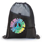 Say Peace Out To Drugs Drawstring Backpack
