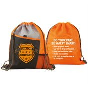 Junior Crimefighter Two-Sided Drawstring Backpack With Safety Tips