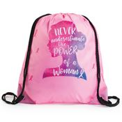 Never Underestimate The Power Of A Woman Drawstring Backpack