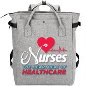 Nurses: The Heartbeat Of Healthcare Freeport 2-In-1 Tote Bag/Backpack