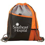 Orange Sport Drawstring Mesh Backpack - Personalization Available
