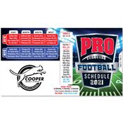 Pro Football 2019 Pocket Size Schedule At a Glance - Personalization Available