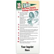 10 Ways To Save For Your Child's College Education EZ-Stick Glancer - Personalization Available