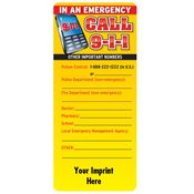 Emergency Phone Numbers EZ-Stick Glancer - Personalization Available