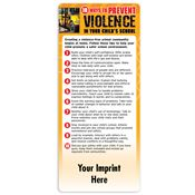 10 Ways To Prevent Violence In Your Child's School E-Z Stick Glancer - Personalization Available