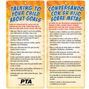 Talking To Your Child About Goals 2-Sided English/Spanish Glancer - Personalization Available