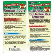 Middle School - Parents Can Help Kids With Common Core 2-Sided Bilingual Glancer - Personalization Available