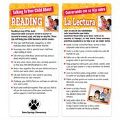 Talking To Your Child About Reading Two-Sided English/Spanish Glancer - Personalization Available
