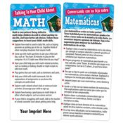 Talking To Your Child About Math Two-Sided English/Spanish Glancer - Personalization Available