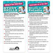 Talking To Your Child About Study Skills Two-Sided English/Spanish Glancer - Personalization Available