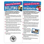 Talking To Your Child About Bullying 2-Sided English/Spanish Glancer - Personalization Available