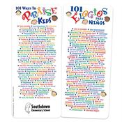 101 Ways To Praise Kids Two-Sided English/Spanish Glancer - Personalization Available