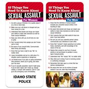 10 Things You Need To Know About Sexual Assault 2-Sided Glancer For Women & Men - Personalization Available
