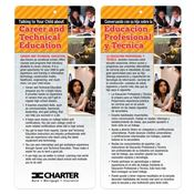 Talking To Your Child About Career And Technical Education Two-Sided Bilingual Glancer - Personalized