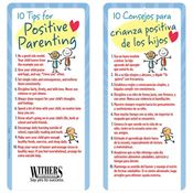 10 Tips For Positive Parenting Two-Sided English/Spanish Glancer - Personalization Available