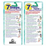 7 Steps To Financial Fitness 2-Sided Bilingual Glancer - Personalization Available