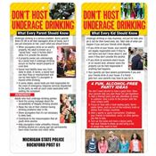 Don't Host Underage Drinking 2-Sided Glancer - Personalization Available