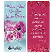 Women Of Faith Let Their Grace Bloom 2-In-1 Bible Marker/Glancer - Personalization Available