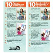 10 Tips For Teaching Your Child Respect Two-Sided English/Spanish Glancer