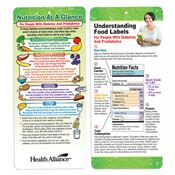 Understanding Food Labels For People With Diabetes Two-Sided English Glancer - Personalization Available