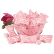 "Early Detection Pink Butter Mint Assort-""mint"" In Pink Breast Cancer Awareness Slogan Wrappers"