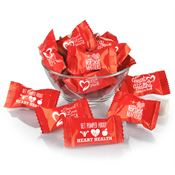 Butter Mint Assortment in Red Slogan Wrappers