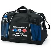 In This Family No One Stands Alone Northport Duffel Bag