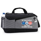 In This Family No One Stands Alone Princeton Duffel Bag
