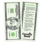 $100 Bill Credit Union Bookmark - Personalization Available