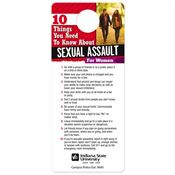 10 Things You Need To Know About Sexual Assault Door Hanger - Personalization Available