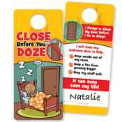 Close Before You Doze Full-Color Door Hanger