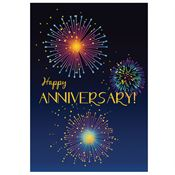 Happy Anniversary! Fireworks Design Greeting Card