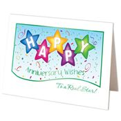 Happy Anniversary Wishes To A Real Star! Greeting Card