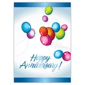 Happy Anniversary! Balloon Design Greeting Card